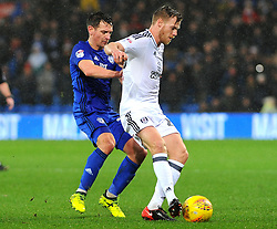 Craig Bryson of Cardiff City battles with Tomas Kalas of Fulham - Mandatory by-line: Nizaam Jones/JMP- 26/12/2017 -  FOOTBALL - Cardiff City Stadium - Cardiff, Wales -  Cardiff City v Fulham - Sky Bet Championship