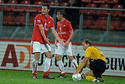 09-05-2007 VOETBAL: PLAY OFF: UTRECHT - RODA: UTRECHT<br /> In de play-off-confrontatie tussen FC Utrecht en Roda JC om een plek in de UEFA Cup is nog niets beslist. De eerste wedstrijd tussen beide in Utrecht eindigde in 0-0 / Erik Pieters<br /> ©2007-WWW.FOTOHOOGENDOORN.NL