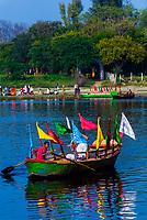 Ferry boats, Vishram Ghat, Mathura, Uttar Pradesh, India.