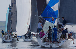 Largs Regatta Festival 2019<br /> <br /> Close racing in light winds for RC35 Fleet with Tangaroa