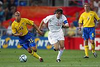 Faro 27/6/2004 Euro2004 <br />Svezia - Olanda 4-5 after penalties (0-0) <br />Henrik Larsson of Sweden and Philip Cocu of Netherlands<br />Photo Andrea Staccioli Graffiti