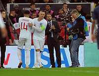 Football - 2018 / 2019 International Friendly - England vs. USA<br /> <br /> Wayne Rooney of England comes on a 2nd half substitute for Jesse Lingard, at Wembley Stadium.<br /> <br /> COLORSPORT/ANDREW COWIE