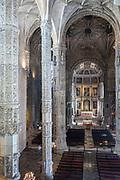 UNESCO Church of Saint Mary - Igreja Santa Maria de Belem at Monastery of Jeronimos - Mosteiro  dos Jeronimos in Lisbon, Portugal