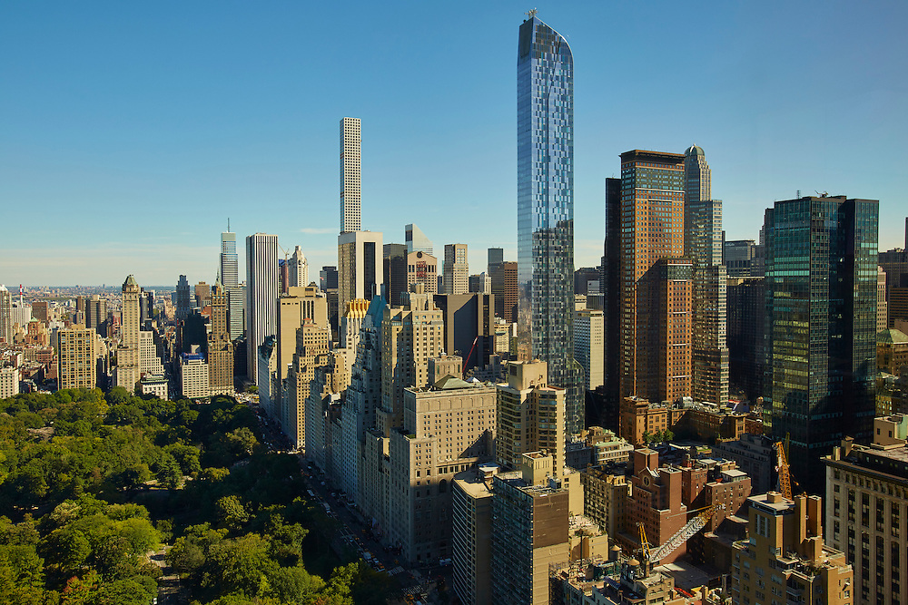 View of Central Park and Midtown from 1 Central Park West, 45th floor, Trump International
