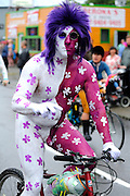 Fremont Solstice Parade 2011 Painted Cyclists