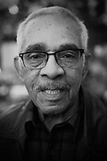 Mature African American Man black and white portrait