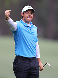April 7, 2018 - Augusta, GA, USA - Rory Mcllroy celebrates his eagle on the 8th hole during the third round of the Masters Tournament on Saturday, April 7, 2018, at Augusta National Golf Club in Augusta, Ga. (Credit Image: © Curtis Compton/TNS via ZUMA Wire)