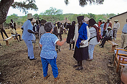 Jackie Fried & Locals Dancing At Festivities