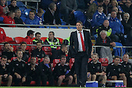 Cardiff City caretaker manager Scott Young looks on. Capital One Cup, 3rd round match, Cardiff City v AFC Bournemouth at the Cardiff City stadium in Cardiff, South Wales on Tuesday 23rd Sept 2014<br /> pic by Mark Hawkins, Andrew Orchard sports photography.
