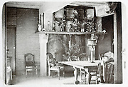 interior of old  early 1900s house