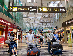Interior of new Terminal 3 at Changi Airport in Singapore