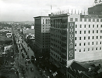 1928 Looking east at Hollywood Blvd. and Vine St.