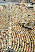 Elevated view of tiled roof, Dubrovnik old town, Croatia