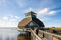 Sweden, Lake Hornborga. Naturum nature center.