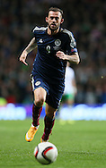 Steven Fletcher of Scotland  - UEFA Euro 2016 Qualifier - Scotland vs Republic of Ireland - Celtic Park Stadium - Glasgow - Scotland - 14th November 2014  - Picture Simon Bellis/Sportimage