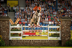 Schroder Gerco, (NED), Glocks Cognac Champblanc<br /> Individual competition round 3 and Final Team<br /> FEI European Championships - Aachen 2015<br /> © Hippo Foto - Jon Stroud<br /> 21/08/15