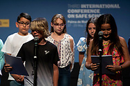 Queen Letizia of Spain attends closing of the 3rd International Conference on Safe Schools at Palacio de Congresos on May 29, 2019 in Palma, Spain