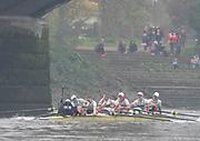Putney, London, Varsity Boat Race, 07/04/2019, Embankment, Oxford V Cambridge, Men's Race, Women's Race, Championship Course,<br /> [Mandatory Credit: Patrick WHITE], Sunday,  07/04/2019,  2:32:46 pm,