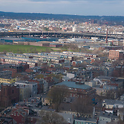Somervill and Cambridge panorama brom the high point of Bunker hill memorial
