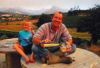 Mike Dobrovic at Muldenbobch Vineyards, Stellenbosch, South Africa; 1999