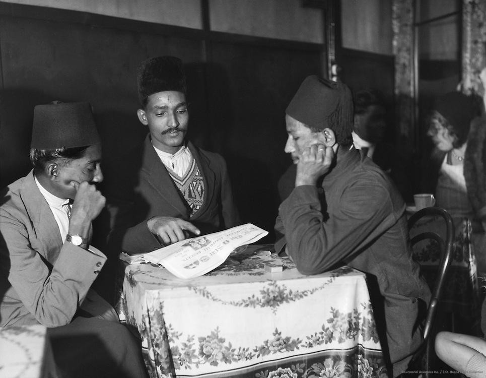 Types in Burmese Cafe, London, 1933
