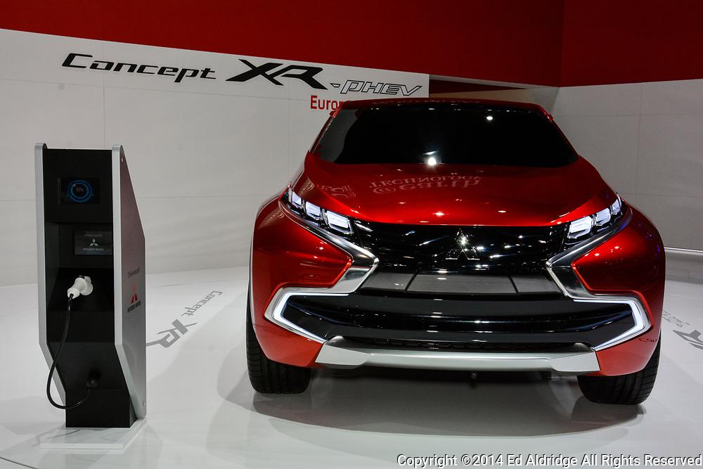 GENEVA, SWITZERLAND - MARCH 4, 2014: Mitsubishi Concept XR on display during the Geneva Motor Show.