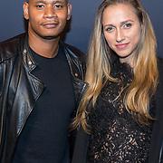 NLD/Hilversum/20180512 - Speciale voorvertoning Ocean's Eight, Sergio IJssel en vriendin