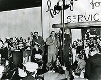 1942 Abbott & Costello at the grand opening of the Hollywood Canteen