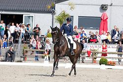 Fassaert Claudia (BEL) - Donnerfee<br /> BK seniors<br /> Flanders Dressage Event Hulsterlo 2012<br /> © Dirk Caremans