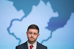 © Licensed to London News Pictures . FILE PICTURE DATED 04/12/2015 . Oldham , UK . Labour candidate JIM MCMAHON gives his victory speech at the count at the Oldham West and Royton by-election beneath a large map of Oldham , at the Queen Elizabeth Hall in Oldham . The by-election was called following the death of MP Michael Meacher . Oldham has been named England's most deprived town by the Office for National Statistics today (18th March 2016) . Photo credit : Joel Goodman/LNP