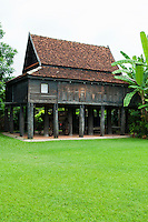 Baan Sao Nak is old teak house built in Lanna style with 116 pillars, believed to have been constructed in 1895. This wooden teak house is a remarkable example of the combination of Burmese and Lanna styles of architectures.While the verandah around the house is designed in Burmese style, the roof, general structures and the living areas are constructed in Lanna style. In the Thai language, Ban Sao Nak means house of many pillars.  The house was once considered as a symbol of forest wealth present all around the province of Lampang.