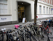 Bicycles outside Tent Witte de With centre for Contemporary Art,  Witte de Withstraat, Rotterdam, Netherlands