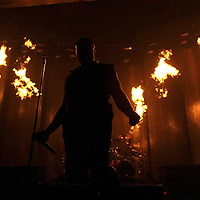 MINNEAPOLIS, MN - AUGUST 17: Lead singer David Draiman of the band Disturbed, performs at the start of the tour for the 2010 Rockstar Energy Drink Uproar Festival at Target Center on August 17, 2010 in Minneapolis, Minnesota.  (Photo by Adam Bettcher/Getty Images) *** Local Caption *** David Draiman