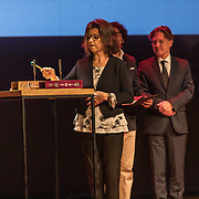 NLD/Amsterdam/20191002 - Laurentien bij ECF Princess Margriet Award for Culture, Laureaten The laureates of the 2019 ECF Princess Margriet Award for Culture are Ahdaf Soueif (Cairo/London) & City of Women (Ljubljana).
