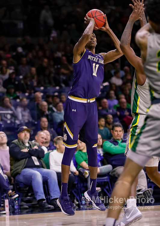 SOUTH BEND, IN - NOVEMBER 08: Juwan Durham #11 of the Notre Dame Fighting Irish shoots the ball during the game against the Chicago State Cougars at Purcell Pavilion on November 8, 2018 in South Bend, Indiana. (Photo by Michael Hickey/Getty Images) *** Local Caption *** Juwan Durham