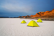 Camping on the Ibex Hardpan, Ibex, Utah.