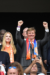 Crown Princess Amalia of Netherlands and King Willem-Alexander of the Netherlands during the FIFA Women's World Cup France 2019 final match between United States of America and The Netherlands at Stade de Lyon on July 07, 2019 in Lyon, France<br /> Photo by David Niviere/ABACAPRESS.COM