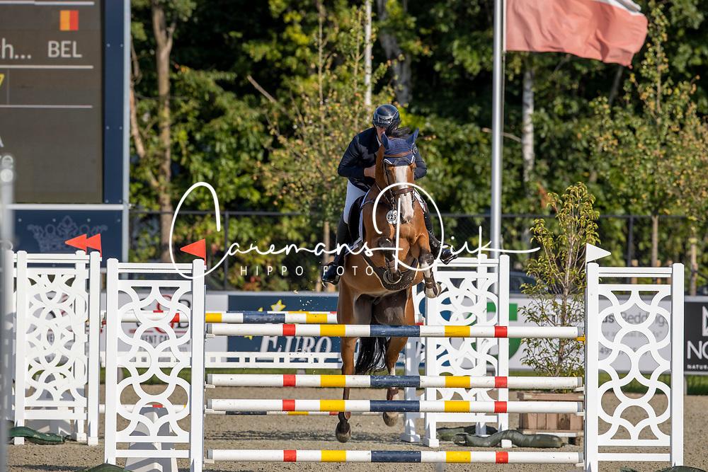 Aegten Wim, BEL, Orchidee vd Bisschop<br /> Belgian Championship 6 years old horses<br /> SenTower Park - Opglabbeek 2020<br /> © Hippo Foto - Dirk Caremans<br />  13/09/2020