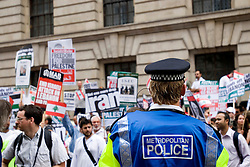 "Stop the Onslaught on Lebanon.LONDON 22 July 2006. Over 7,000 people joined a street protest against Israel's attacks on Lebanon..""The Israeli assault is now spreading to all regions including the mountains and the north. The damage is enormous and the death toll is rising. This only indicates the scale of the attacks and the advanced weaponry the Israelis are using. Only looking at the infrastructure ruins you can see how powerful they are. We are under siege from all directions - air, sea and land."" Eyewitness account from a socialist in Lebanon"