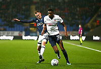 Bolton Wanderers' Sammy Ameobi and Millwall's Jed Wallace  <br /> <br /> Photographer Leila Coker/CameraSport<br /> <br /> The EFL Sky Bet Championship - Bolton Wanderers v Millwall - Tuesday 10th April 2018 - Macron Stadium - Bolton<br /> <br /> World Copyright © 2018 CameraSport. All rights reserved. 43 Linden Ave. Countesthorpe. Leicester. England. LE8 5PG - Tel: +44 (0) 116 277 4147 - admin@camerasport.com - www.camerasport.com