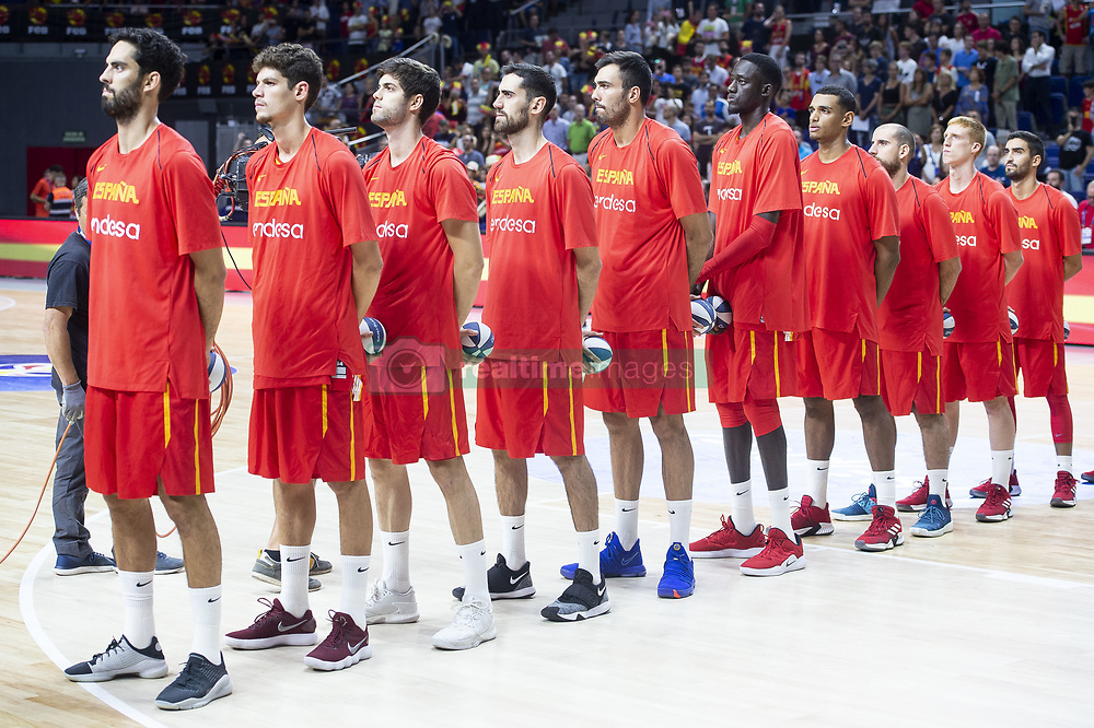 September 17, 2018 - Madrid, Spain - Spain during the FIBA Basketball World Cup Qualifier match Spain against Latvia at Wizink Center in Madrid, Spain. September 17, 2018. (Credit Image: © Coolmedia/NurPhoto/ZUMA Press)