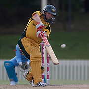 Karen Rolton batting during the ICC Women's World Cup Cricket play off for third place between Australia and India at Bankstown Oval, Sydney, Australia on March 21, 2009. India beat Australia by three wickets. Photo Tim Clayton