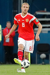 June 19, 2018 - Saint Petersburg, Russia - Iury Gazinsky of Russia national team during the 2018 FIFA World Cup Russia group A match between Russia and Egypt on June 19, 2018 at Saint Petersburg Stadium in Saint Petersburg, Russia. (Credit Image: © Mike Kireev/NurPhoto via ZUMA Press)