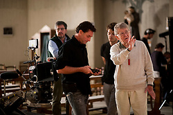 IL VILLAGGIO DI CARTONE.<br /> <br /> Ermanno Olmi con il Direttore della Fotografia Fabio Olmi.<br /> <br /> Foto di KASH GTorsello