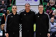 DESCRIZIONE : Eurocup 2014/15 Last32 Dinamo Banco di Sardegna Sassari -  Banvit Bandirma<br /> GIOCATORE : Dani Hierrezuelo, Petros Papapetrou, Saso Petek<br /> CATEGORIA : Arbitro Referee<br /> SQUADRA : Arbitro Referee<br /> EVENTO : Eurocup 2014/2015<br /> GARA : Dinamo Banco di Sardegna Sassari - Banvit Bandirma<br /> DATA : 11/02/2015<br /> SPORT : Pallacanestro <br /> AUTORE : Agenzia Ciamillo-Castoria / Luigi Canu<br /> Galleria : Eurocup 2014/2015<br /> Fotonotizia : Eurocup 2014/15 Last32 Dinamo Banco di Sardegna Sassari -  Banvit Bandirma<br /> Predefinita :