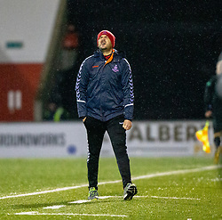 Airdrie manage Ian Murray. Airdrie 0 v 1 Arbroath, Scottish Football League Division One played 15/12/2018 at Airdrie's Excelsior stadium.
