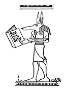 (Anubis reads the Reader's Digest Book of the Dead)