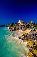 The Castillo at Tulum archaelogical site, Mexico