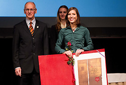 Miro Cerar and Mina Markovic at 48th Annual Awards of Stanko Bloudek for sports achievements in Slovenia in year 2012 on February 12, 2013 in Grand Hotel Union, Ljubljana, Slovenia. (Photo By Vid Ponikvar / Sportida)