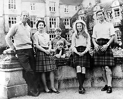 Oct. 31, 1972 - Balmoral, England, U.K. - The elder daughter of King George VI and Queen Elizabeth, ELIZABETH WINDSOR (named Elizabeth II) became Queen at the age of 25, and has reigned through more than five decades of enormous social change and development. PICTURED: QUEEN ELIZABETH II and PRINCE PHILIP with their children PRINCE EDWARD, ANDREW, PRINCE CHARLES and PRINCESS ANNE.  (Credit Image: © KEYSTONE Pictures USA/ZUMAPRESS.com)